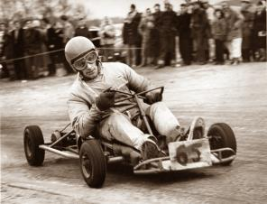 an old photo of one of the first karts